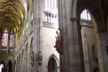 Interior of the St. Vitus Cathedral in Prague