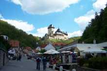 Cesta na hrad Karlštejn