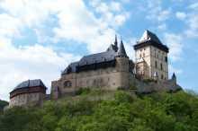 Pohled na hrad Karlštejn