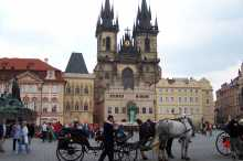 The Old Town Square and the Tyn Church in Prague