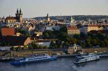 View of Prague and the Vltava River