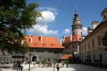 Nádvoří na zámku Český krumlov