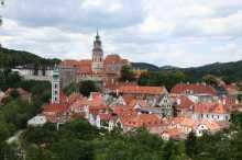 Panorama di Český Krumlov