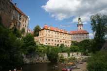 Zámek Český Krumlov a vodáci
