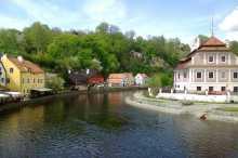 Český Krumlov e il fiume Moldava