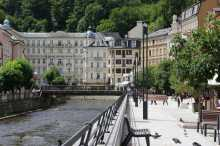 Hotel Pupp and the river Teplá - Karlovy Vary