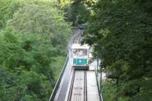 The Funicular up to the Top of Petřín Hill